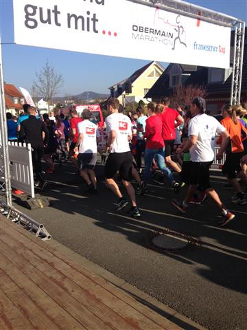 Start zum 14. Obermain Marathon