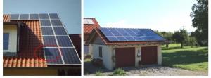Beispiele für Verschattungen durch Störobjekte auf dem Dach und in der Umgebung