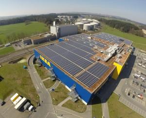 PV-Anlage auf IKEA-Dach